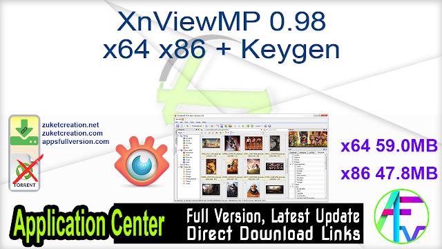 XnViewMP 0.98 x64 x86 + Keygen