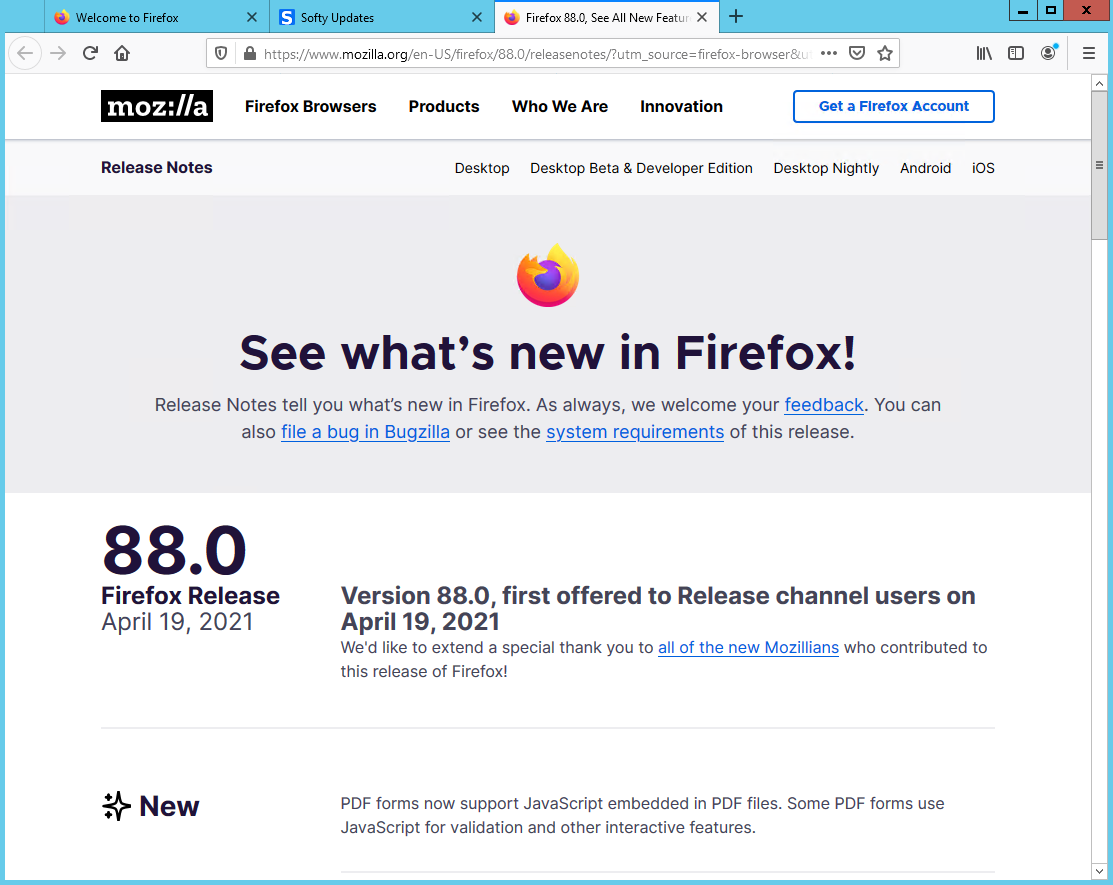 Mozilla Firefox Browser 88.0