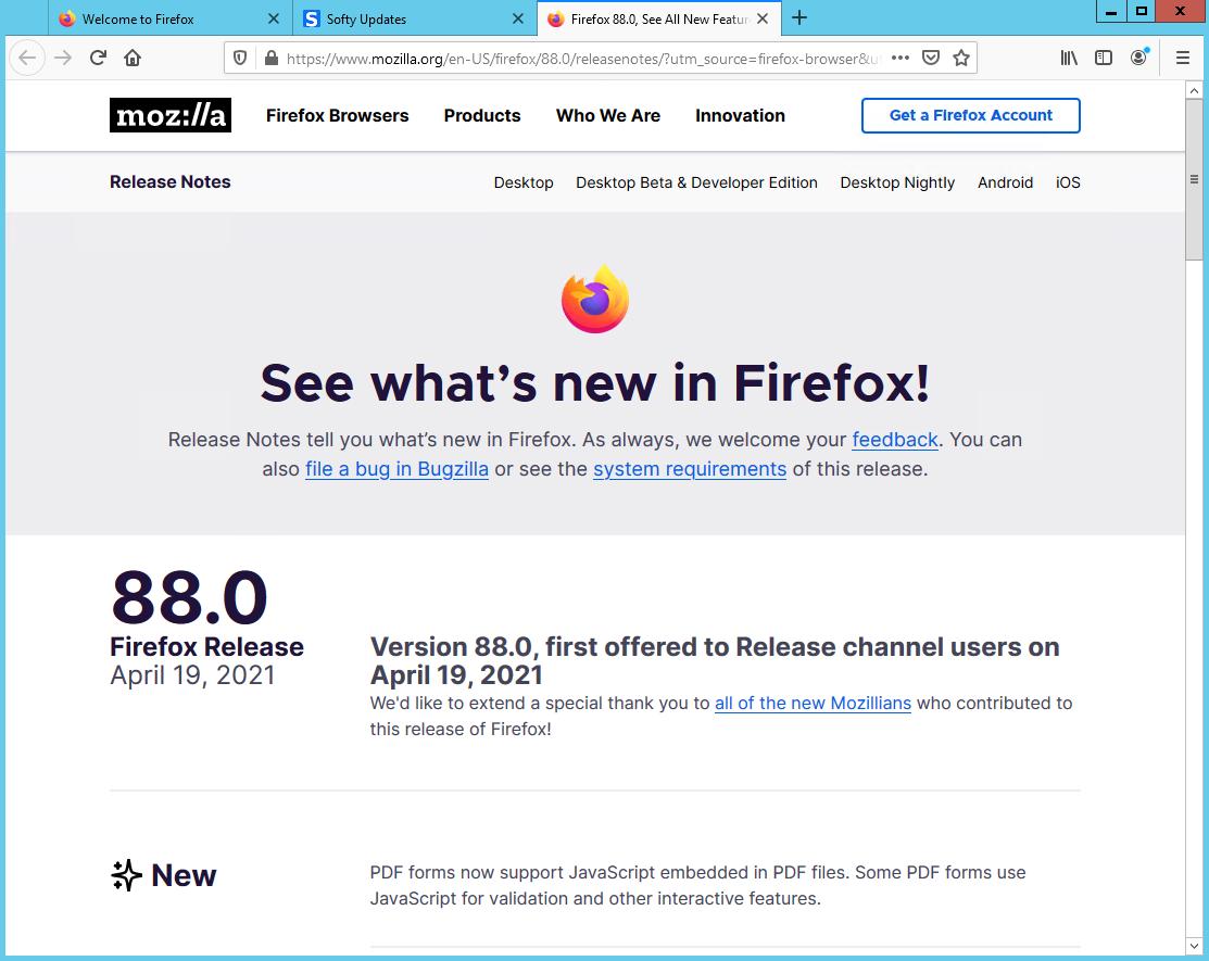 Mozilla Firefox Browser 88.0