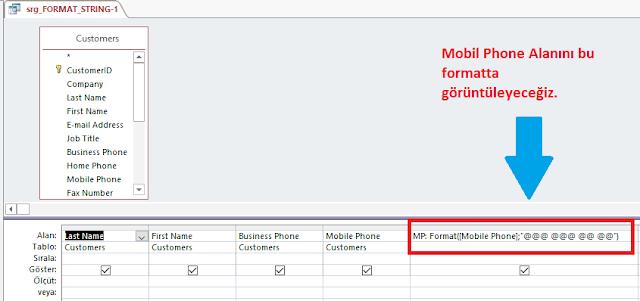 Format Fonksiyonu (String Alanı Biçimlendirme)