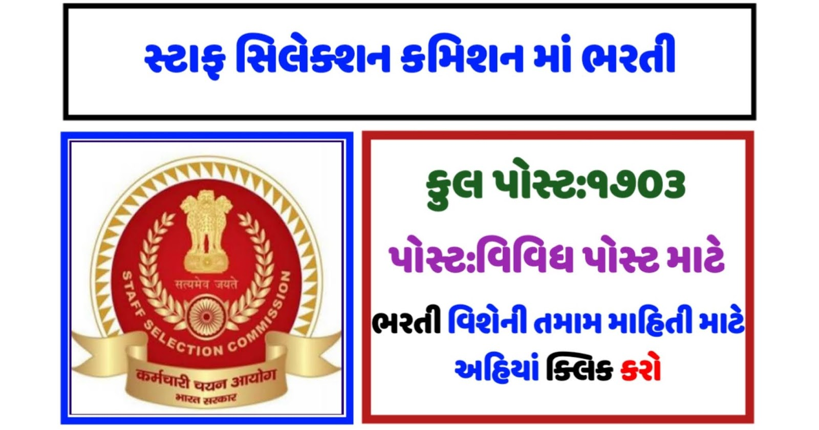 Staff Selection Commission (SSC) Recruitment 2020