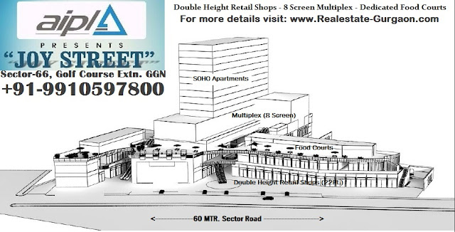 AIPL Joy Street Gurgaon, New launch commercial sec 66 gurgaon, upcoming high street market gurgaon, new launch high street market gurgaon, new launch sector 66 gurgaon, new commercial on golf course extn gurgaon, golf course extn sector 66 commercial project gurgaon
