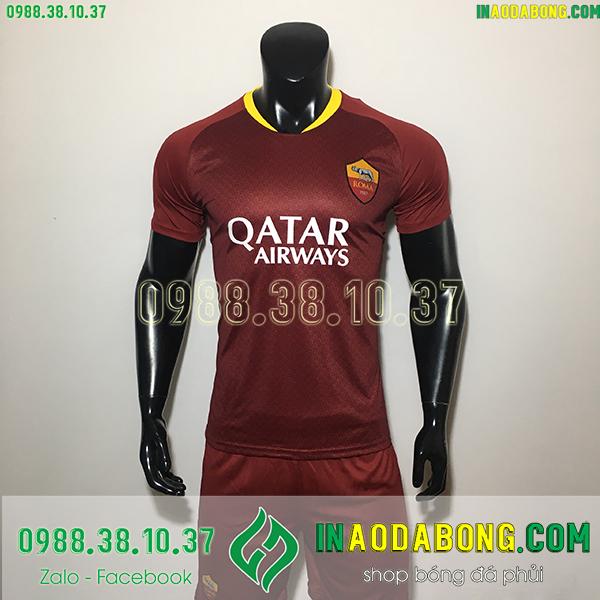 Áo bóng đá câu lạc bộ AS Roma màu bã trầu