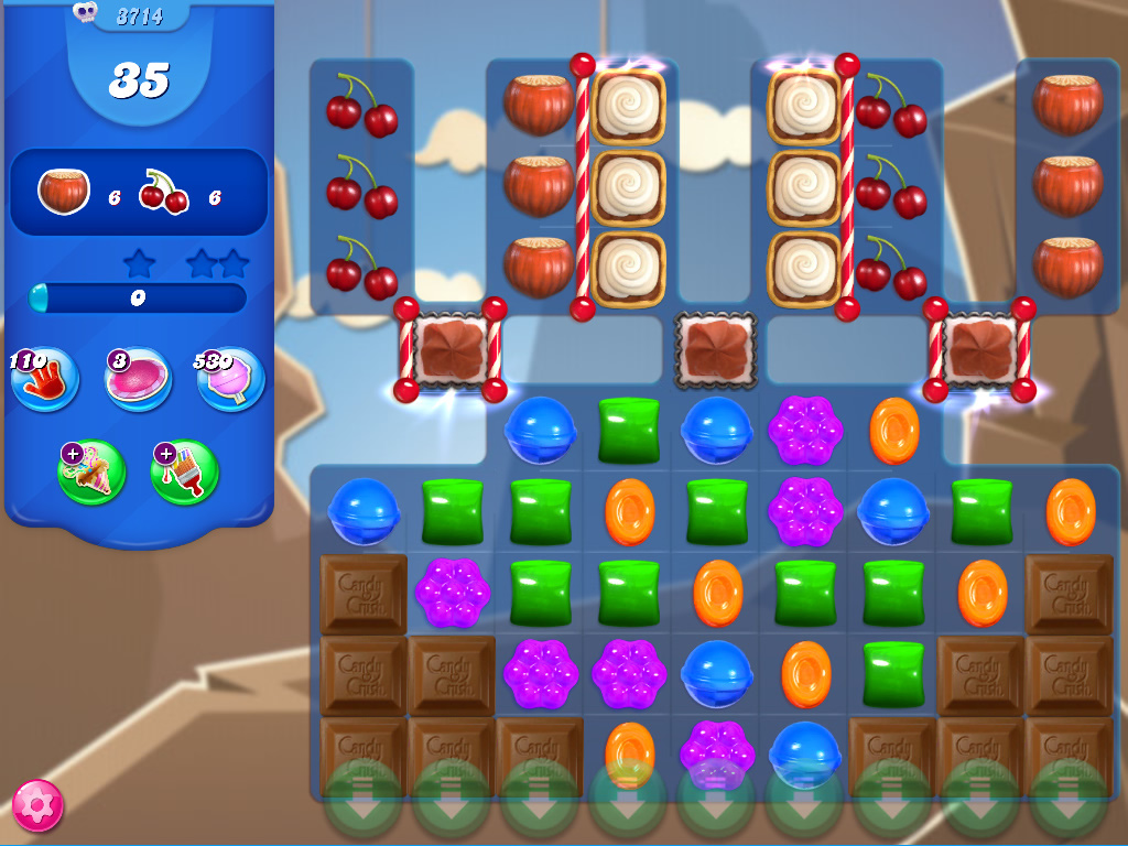 Candy Crush Saga level 3714