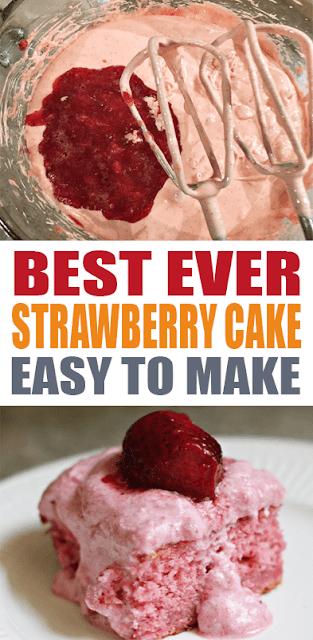 BEST EVER STRAWBERRY #CAKE