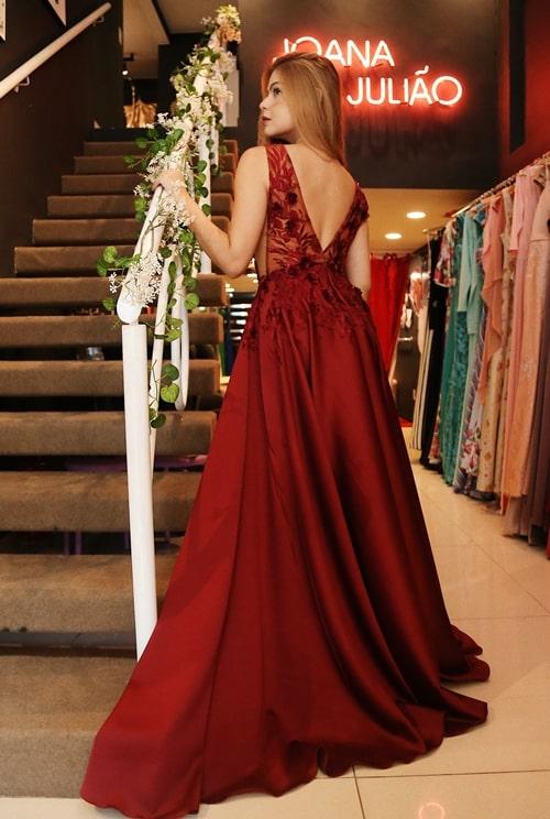 vestido marsala para madrinha de casamento