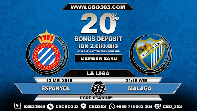 Prediksi Bola Espanyol VS Malaga 13 Mei 2018
