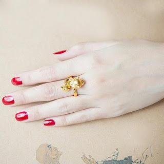 Nhẫn Hồ Ly vàng thu hút ánh nhìn