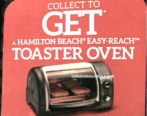 Dempsters Free Hamilton Beach Toaster Oven Rebate