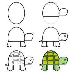 Cara Mudah Menggambar Kura-Kura Untuk Anak-Anak