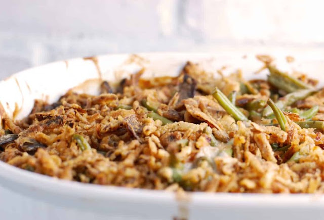 Vegan Green Bean Casserole #vegan #dinner