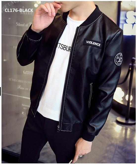 1e0d49c8e63 My Favor: CL176 Korean Style PU Leather Jacket / Smart Casual Coat
