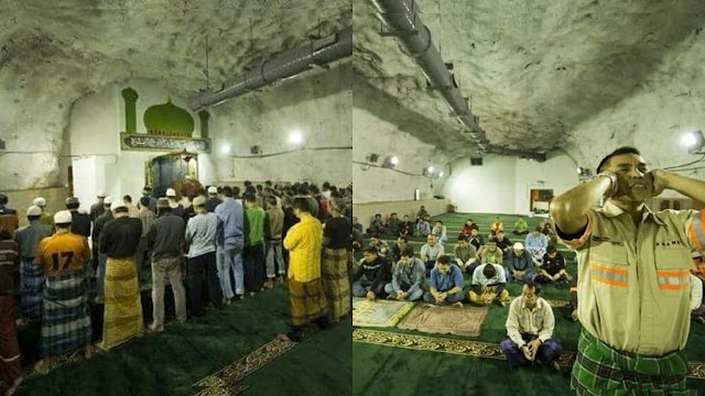 SubhanAllah…Masjid Berada 1,700 Meter Di Dalam Perut Bumi