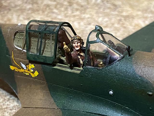 Hasegawa 1/48 P-40E Cockpit Details