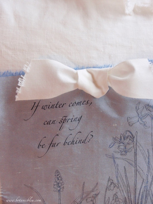 diy spring narcissus pillow uses shelley quote if winter comes