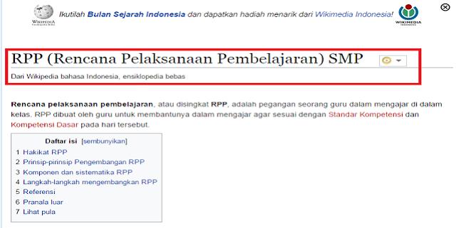 Contoh RPP SMP Semester 1 dan 2 Lengkap