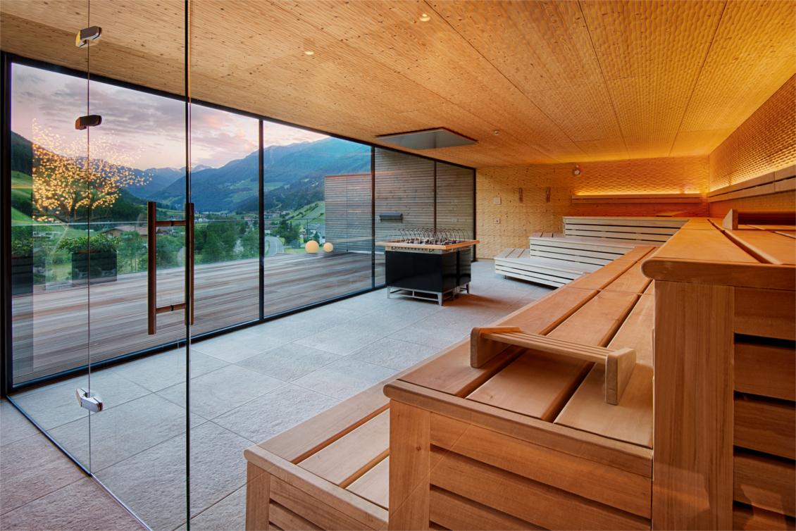 Wellnesshotel Alpenschlössl - Ahrntal Südtirol - Sky Lounge Panorama Sauna