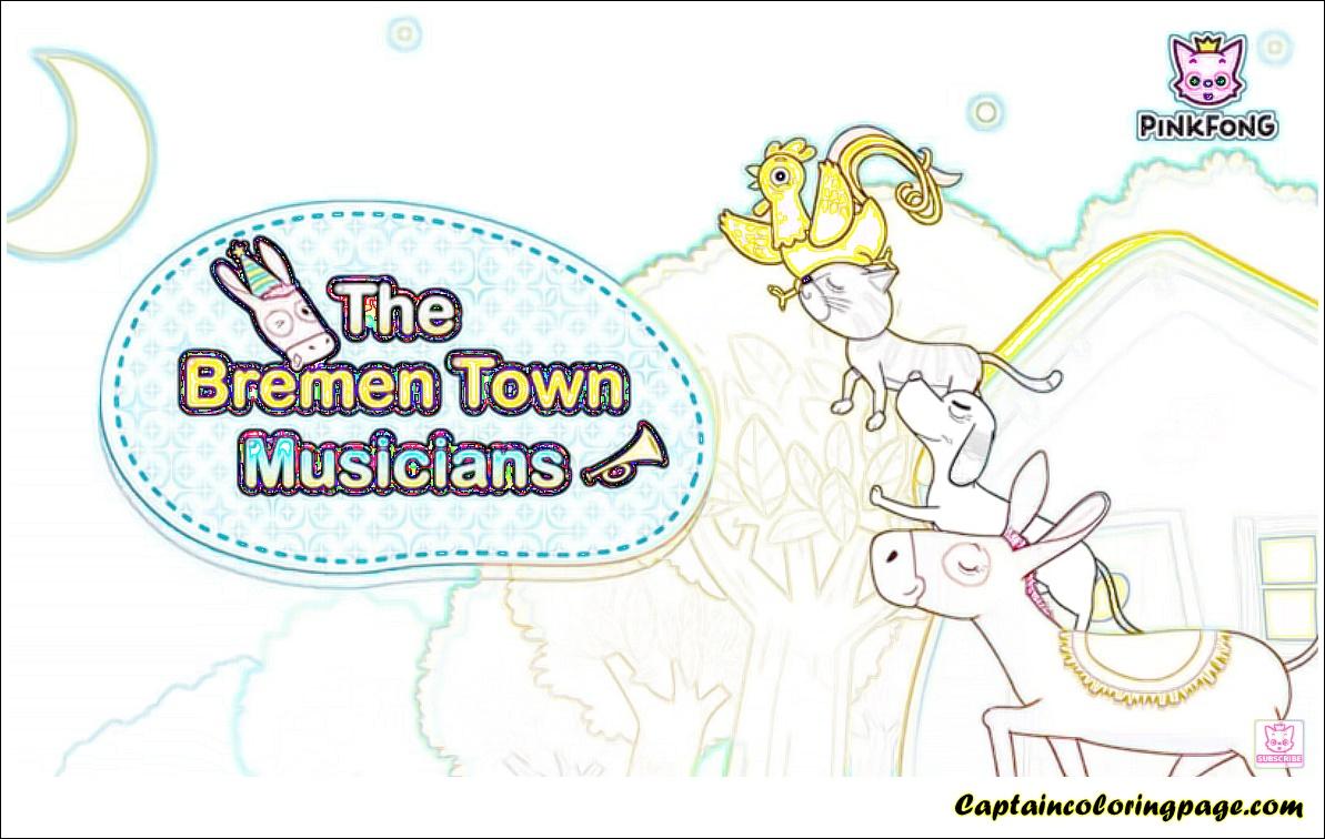 Color the Bremen Town Musicians | Ausmalbilder, Ausmalen, Kinder ... | 756x1193