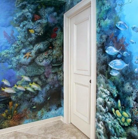 coral reef mural