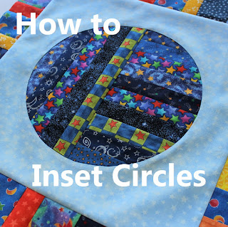 how to inset circles into a quilt block