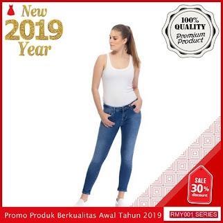 RMY010J27 Jeje Jeans Celana Jeans Keren Reguler Biru BMGShop