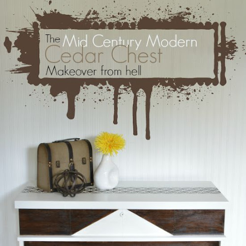 Mid Century Modern Cedar Chest Makeover Act One