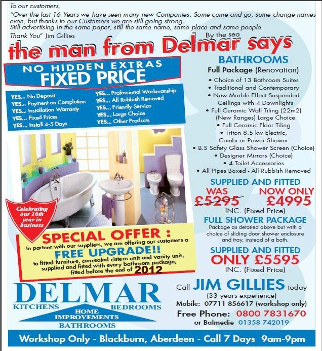 delmar bathroom package aberdeen