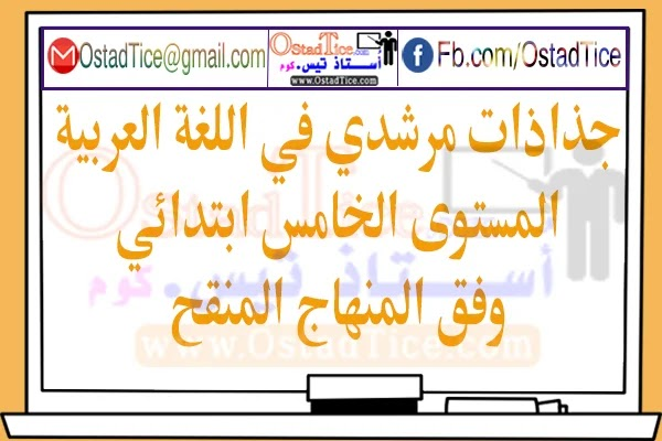 جذاذات مرشدي في اللغة العربية المستوى الخامس 2020 وفق المنهاج المنقح