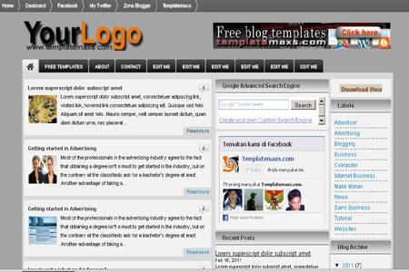 Blogsquare Blogger Template