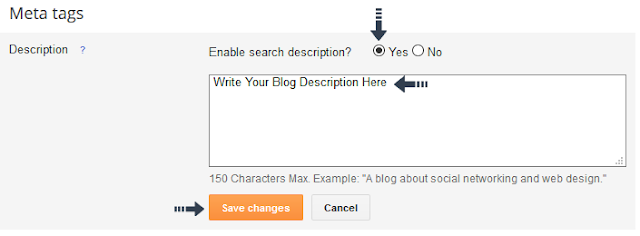 enable Meta description