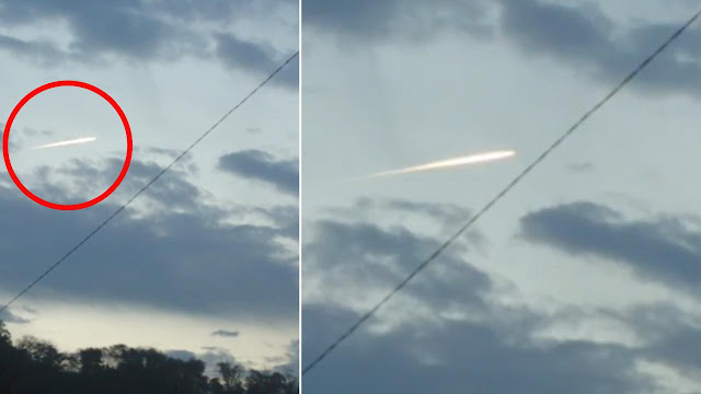 Penampakan berkas cahaya yang diduga meteorit melintas langit jepang usai gempa bumi