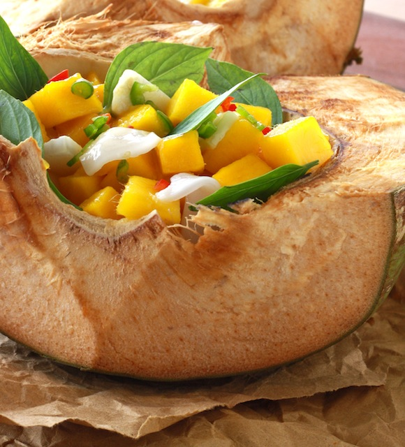 mango coconut salsa