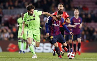 مباراة برشلونة وليفانتي بجودة عالية