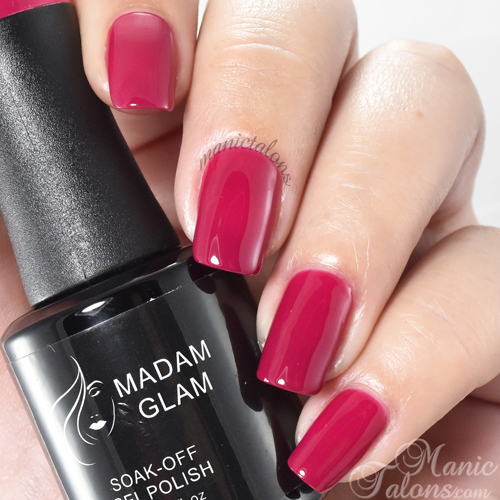 Madam Glam Gel Polish Raspberry Explosion Swatch