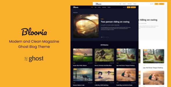 Modern and Clean Magazine Ghost Blog Theme