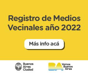 Inscripción al Registro de Medios Vecinales 2022
