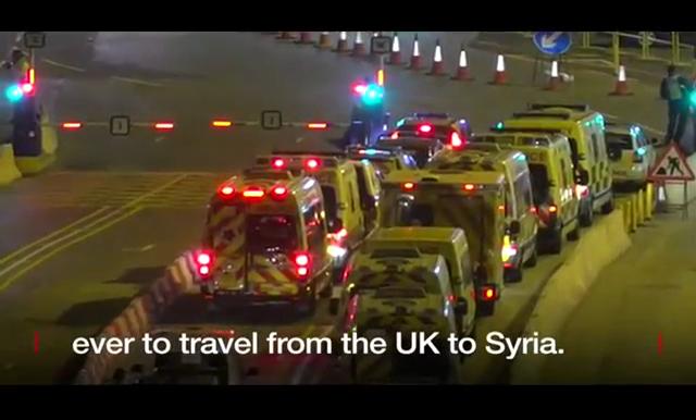 Ηγουμενίτσα: Το μεγαλύτερο κομβόι ασθενοφόρων με προορισμό τη Συρία!