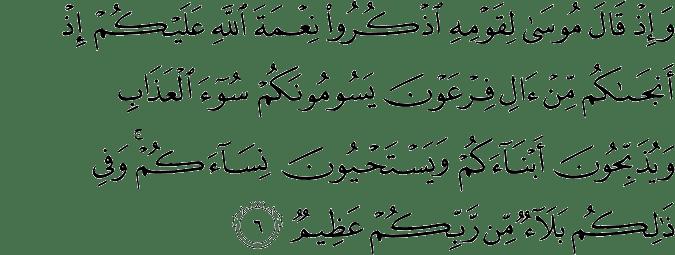 Surat Ibrahim Ayat 6