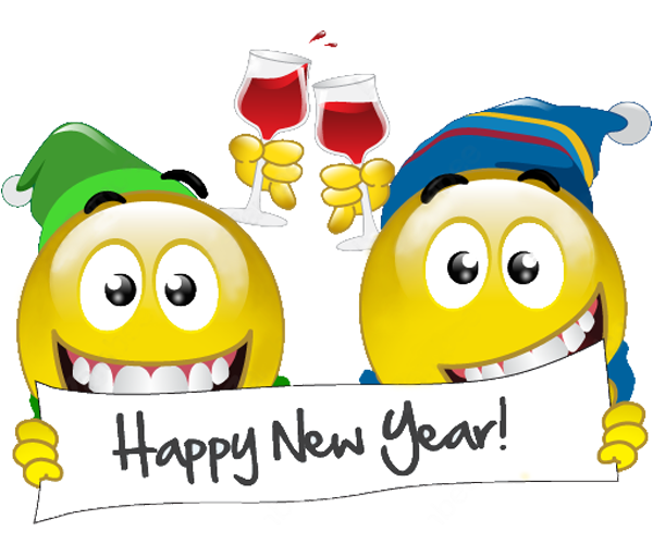 happy new year emoji 2017
