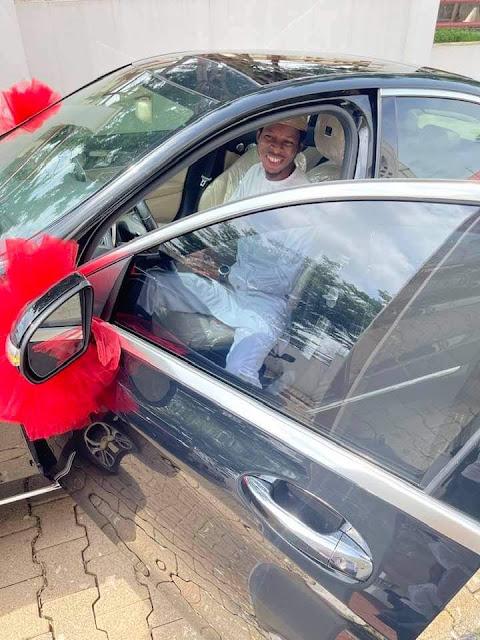 Lovely moment as a Woman gifts her Husband a Mercedes Benz as they celebrate their 7th wedding anniversary (Videos/photos)