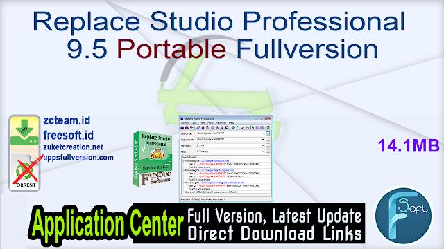 Replace Studio Professional 9.5 Portable Fullversion