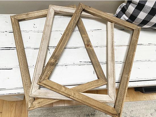 3 DIY wooden frames