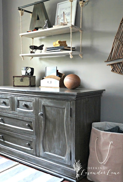 Seeking Lavender Lane Faux Zinc Dresser-Treasure Hunt Thursday- From My Front Porch To Yours