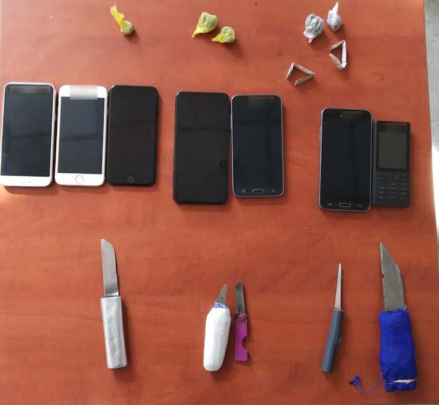 Αιφνιδιαστική έρευνα στις φυλακές Ναυπλίου - Κατασχέθηκαν ναρκωτικά, μαχαίρια και κινητά τηλέφωνα