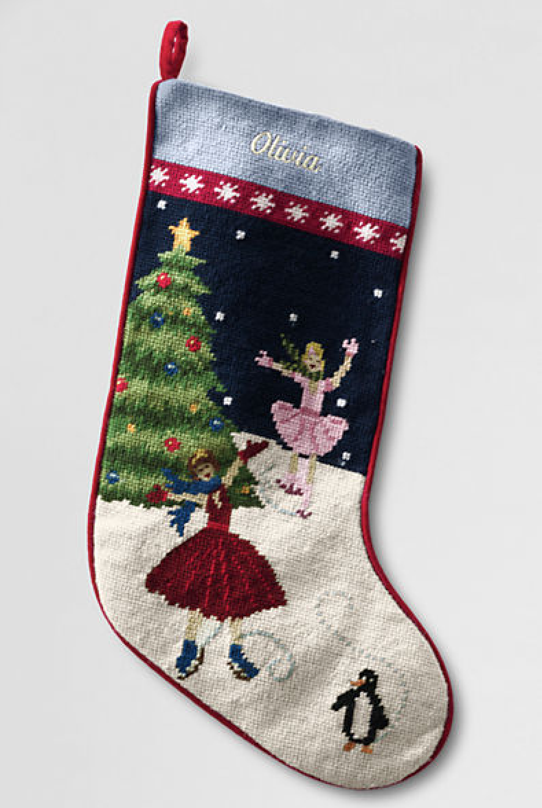Lands End Christmas Stockings.Aesthetic Oiseau Our Christmas Stockings