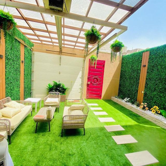 تنسيق حدائق منزلية بأحد رفيدة