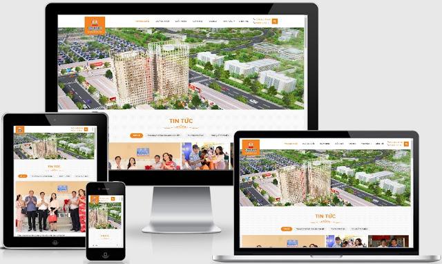 Mẫu template blogspot bất động sản website tổng mới 2019