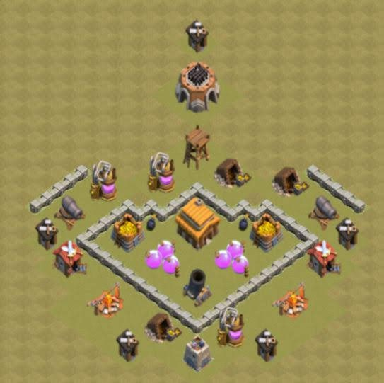 Base COC TH3 War 4