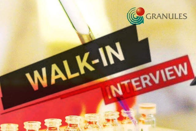 Granules Limited | Walk-in interview for Production Chemists | 22 August 2019 | Hyderabad