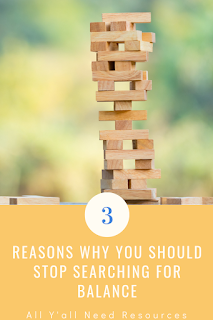 SLPs often feel stressed, and searching for work life balance doesn't help. Here are three 3 reasons to stop trying to achieve balance and still get the job done!